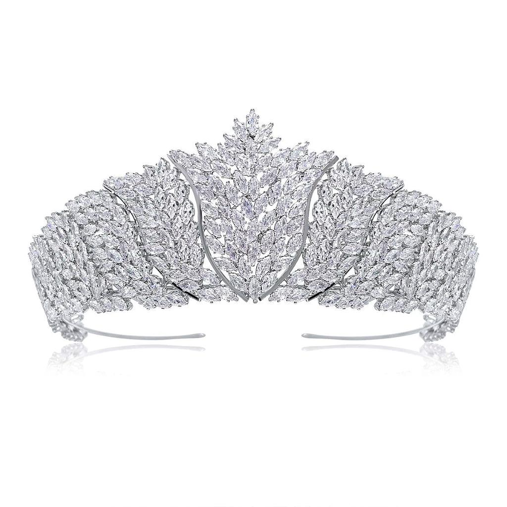 Marquise Luxury Simulated Diamond Tiara - Olivier Laudus Wedding Jewellery