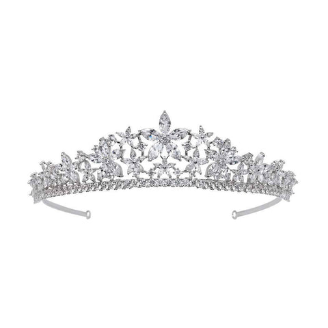 Natalie Simulated Diamond Tiara-Starlet Jewellery