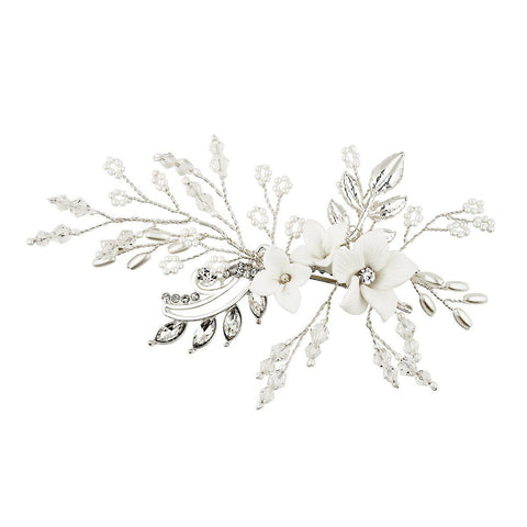 Divine Pearl Hair Comb (Small)-Starlet Jewellery
