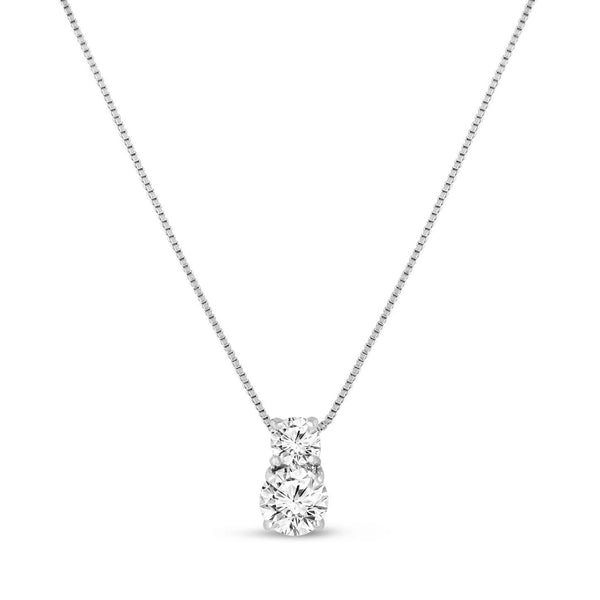 Milan Simulated Diamond pendant-Pendants-Starlet Jewellery