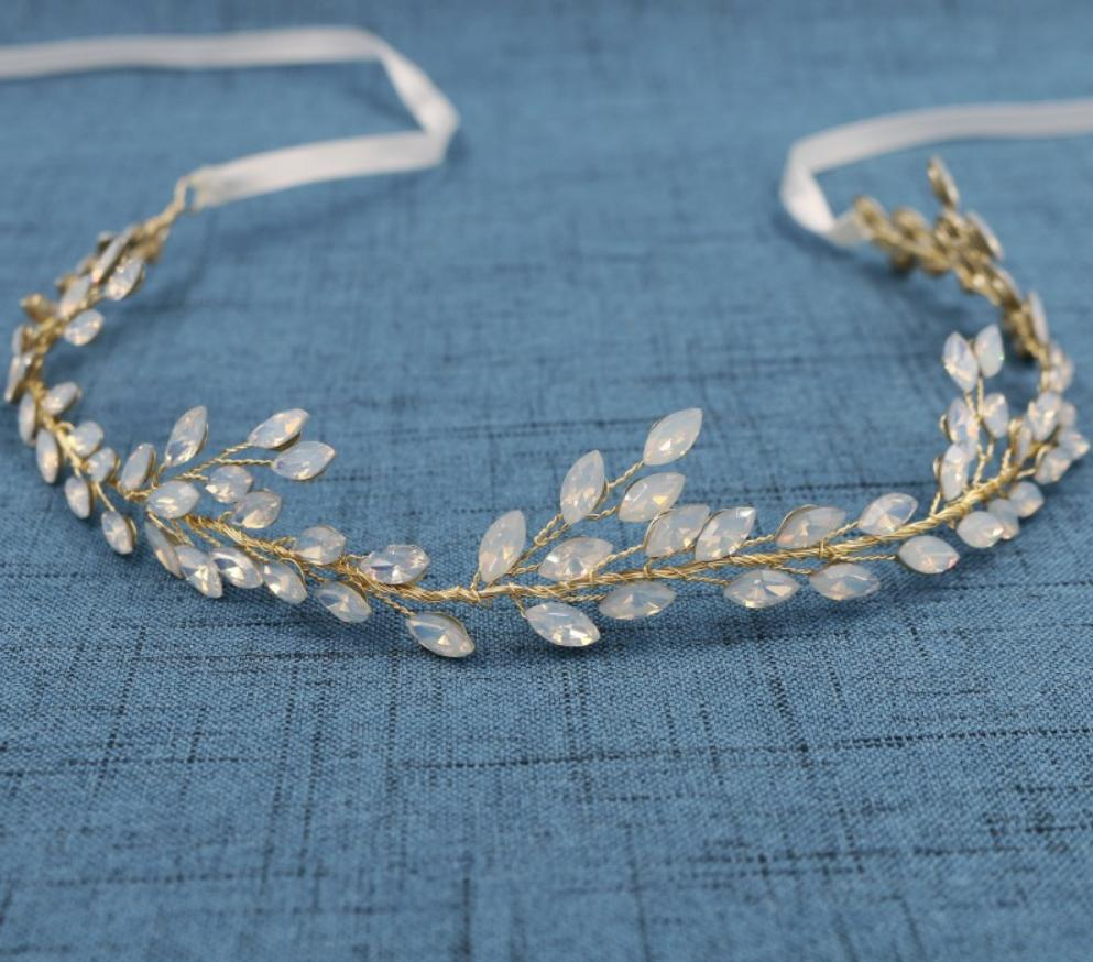 Opaline Hairvine (gold or Silver)-Starlet Jewellery