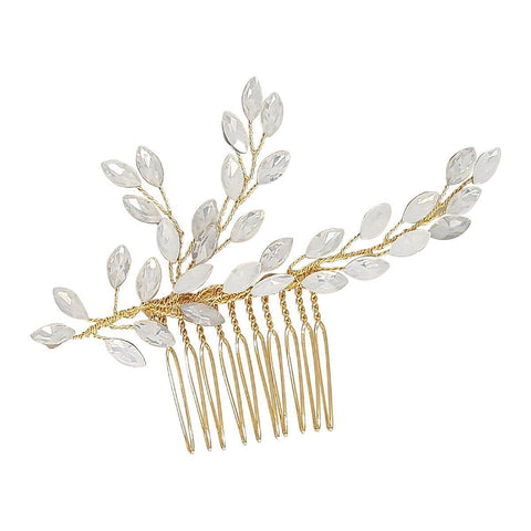 Opaline Gold Hair Comb-Starlet Jewellery