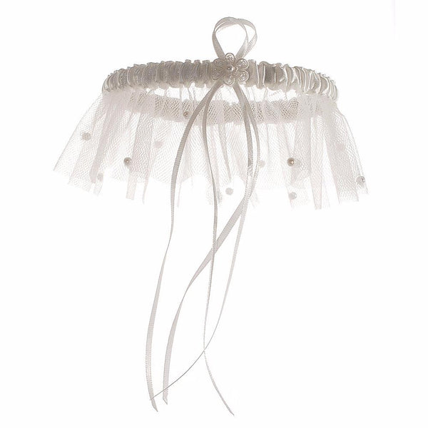 'Scattered Pearl' Bridal Garter