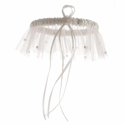 'Scattered Pearl' Bridal Garter-Starlet Jewellery