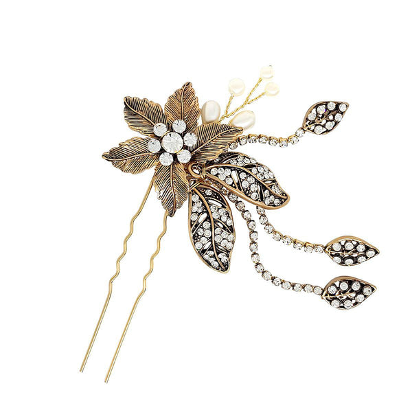 Rebecca Brass Gold Hairpin-Starlet Jewellery