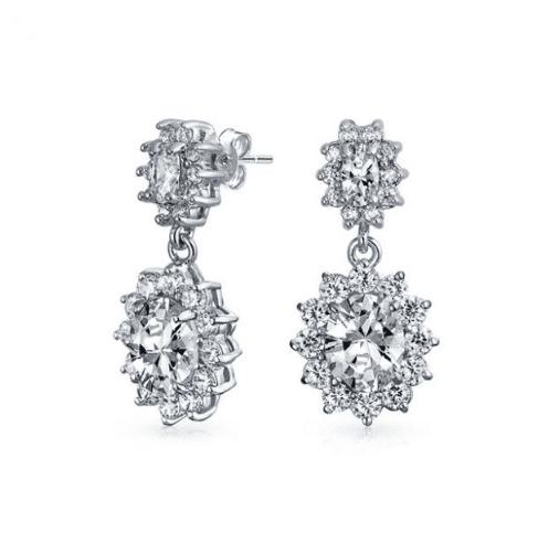 Scarlett Simulated Diamond Earrings-Starlet Jewellery