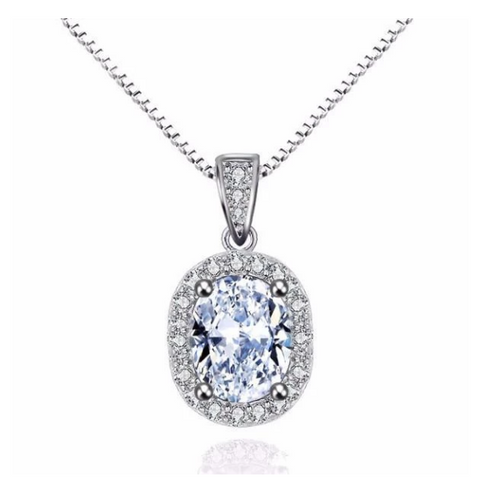 London Simulated Diamond Pendant
