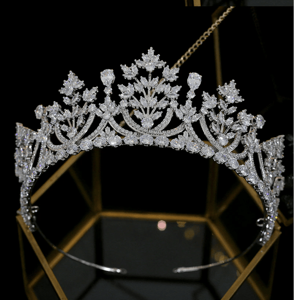 Diana Luxury Platinum Plated Tiara