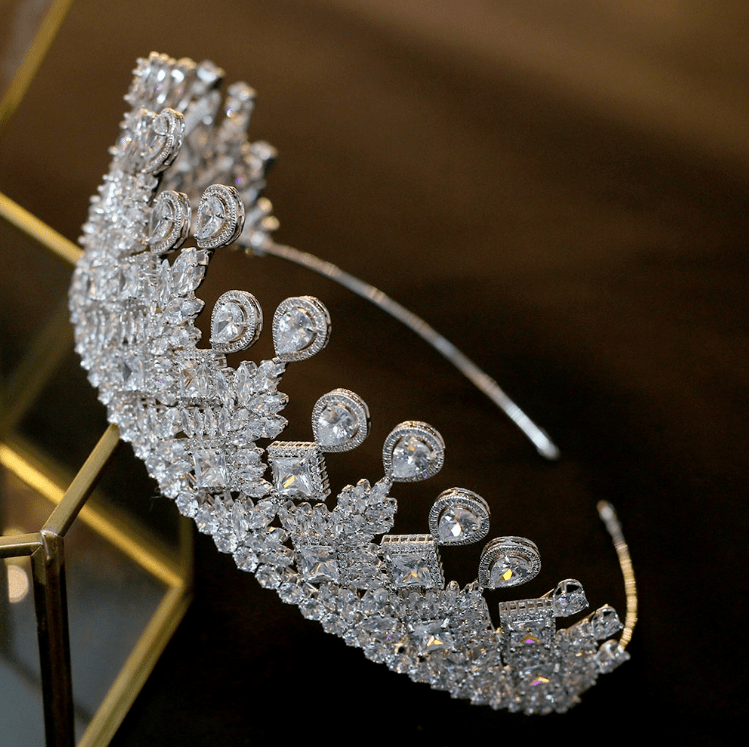 Duchess Luxury Tiara - Olivier Laudus Wedding Jewellery