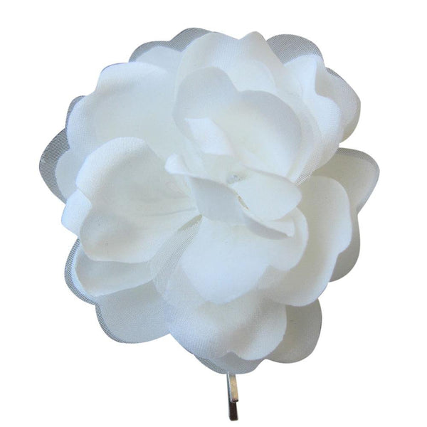 Simple Ivory Hair Flower Pin-Starlet Jewellery