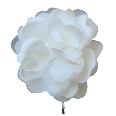 Simple Ivory Hair Flower Pin
