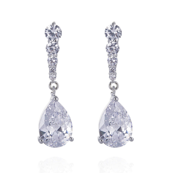 Tanika Simulated Diamond Earrings-Starlet Jewellery