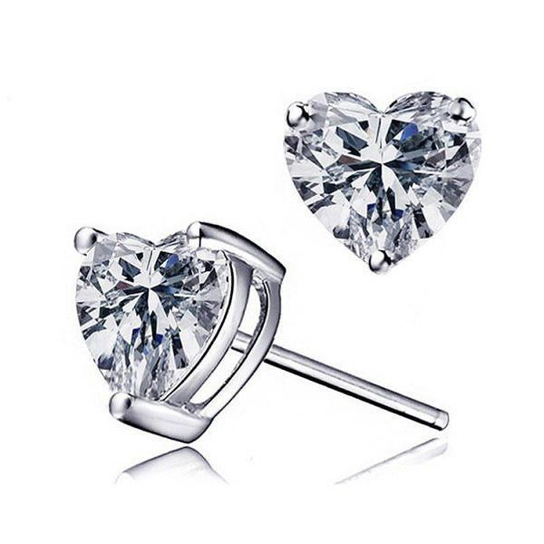 Valentine Stud Earrings-Earrings-Starlet Jewellery