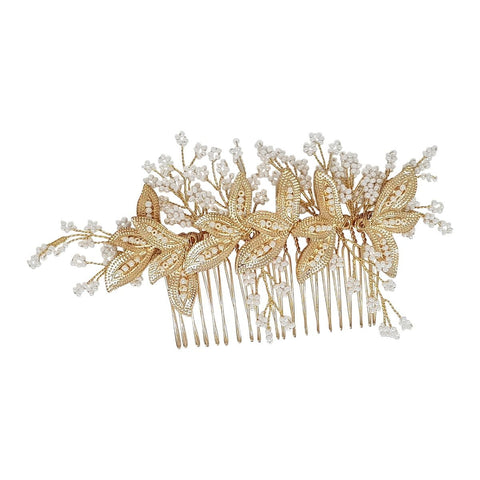 Valerie Gold Hair Comb-Starlet Jewellery