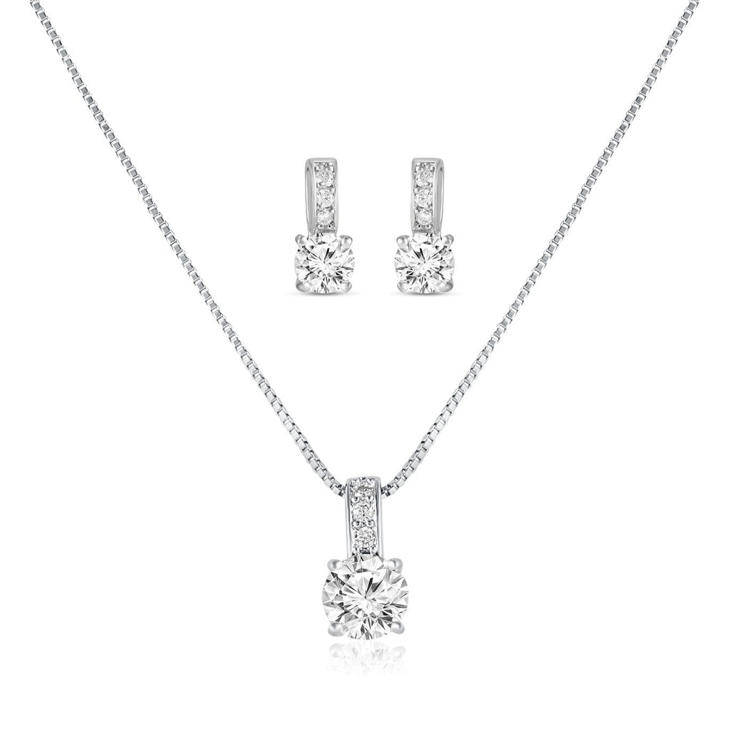Veronica Simulated Diamond Pendant-Pendants-Starlet Jewellery
