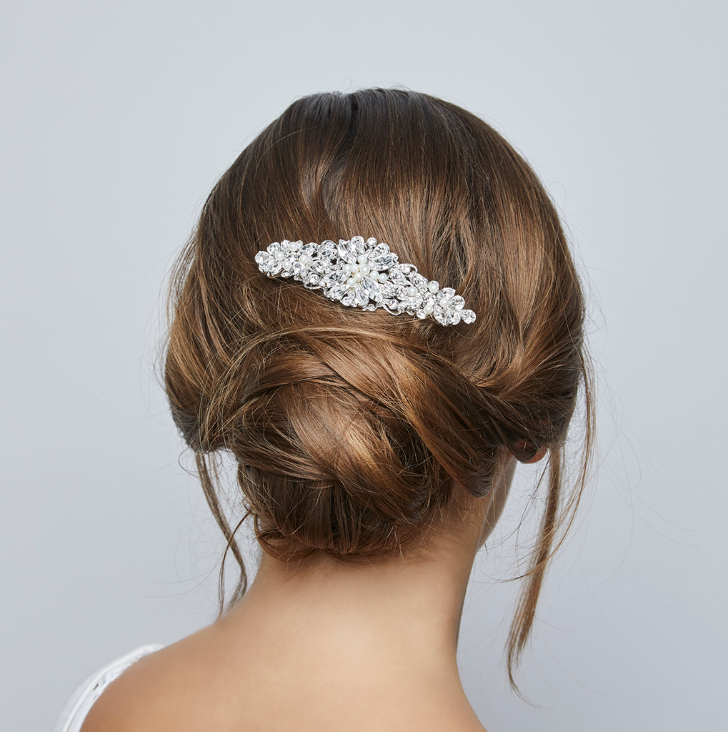 Victoria Silver Pearl Wedding Hair Comb