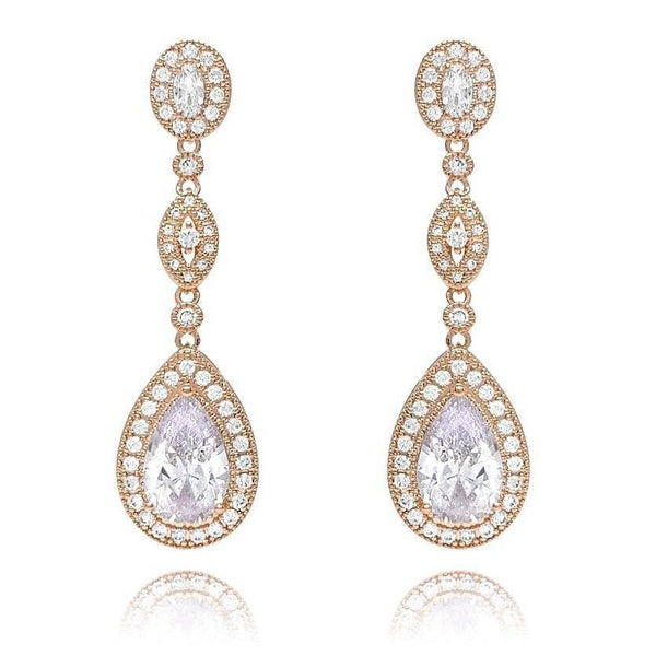 Victoria Gold Drop Earrings-Earrings-Starlet Jewellery