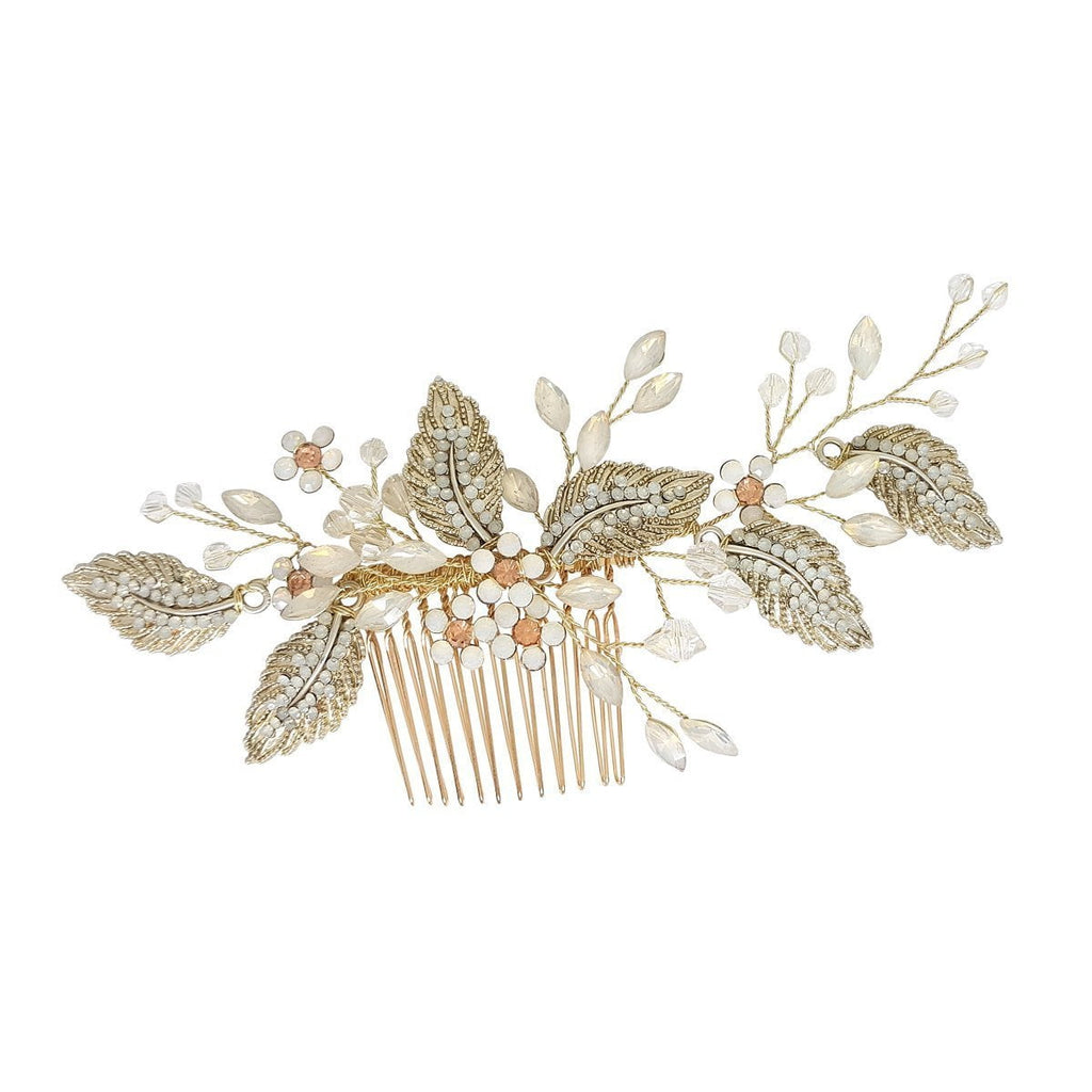 Vintage Gold Hair Comb-Starlet Jewellery