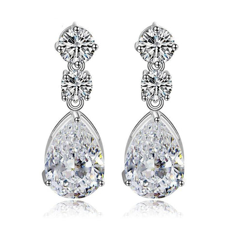 Zoe Simulated Diamond Earrings-Cubic Zirconia Earrings-Starlet Jewellery