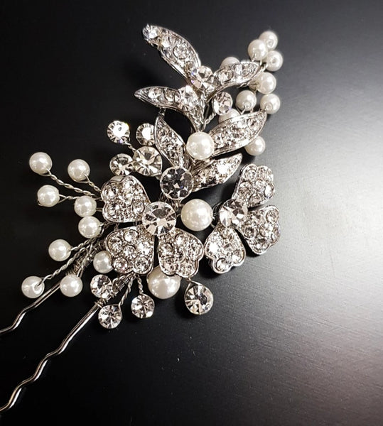 Alicia Pearl and Diamante Hairpin