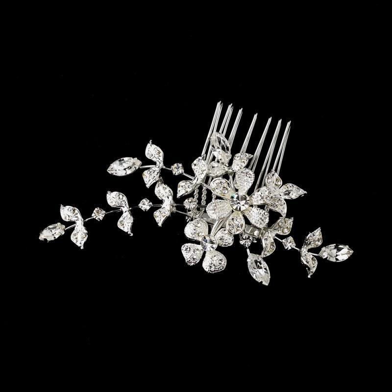 Fleur Mini Crystal Comb - Olivier Laudus Wedding Jewellery