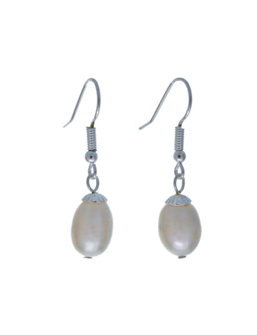 Hepburn Freshwater Pearl Earrings-Earrings-Starlet Jewellery
