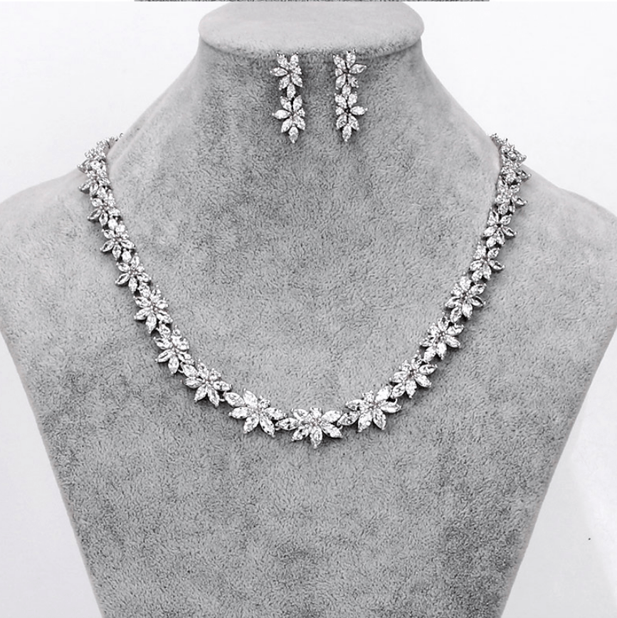 Imperial Simulated diamond Necklace set