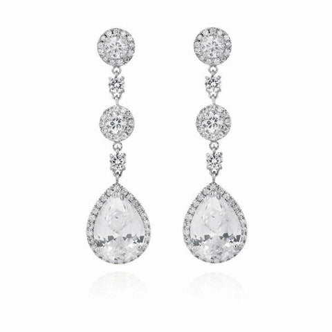 Genevieve Drop Earrings-Earrings-Starlet Jewellery