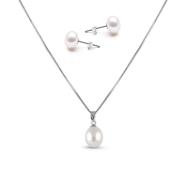 Paris Freshwater Pearl Pendant Set - Olivier Laudus Wedding Jewellery
