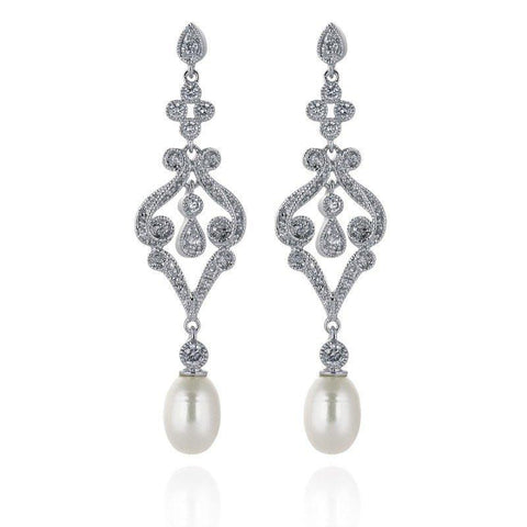 Eleanor Freshwater pearl Earrings-Starlet Jewellery