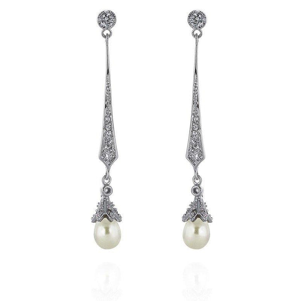 Hester Freshwater Pearl Bridal Earrings