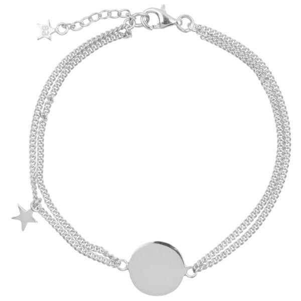 Double chain Armband | Mama Ster Zilver - Papita.nl