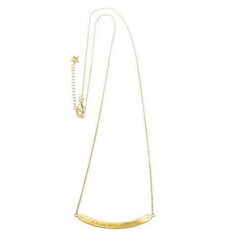 Ketting | I Love You to the Moon and Back - Goud - Papita.nl