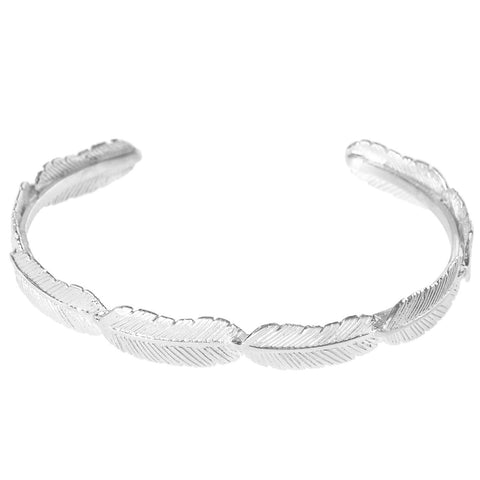 Armband Zilver | Medium Feather Slave - Papita.nl