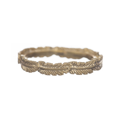Ring | Feather Goud - Papita.nl