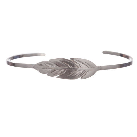 Armband | Indian Feather Zilver - Papita.nl