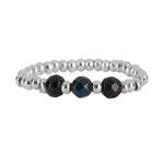 Ring | Three Black Beads Zilver - Papita.nl