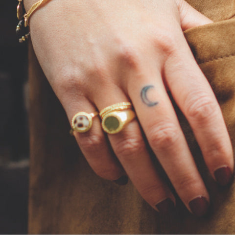 Ring | Tiger Shell Chain Goud - Papita.nl