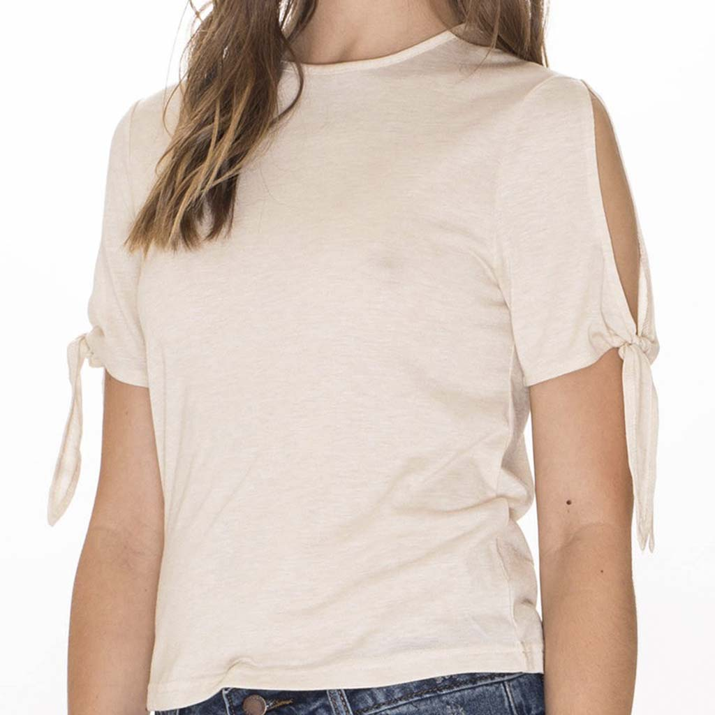 Top | Cut-out Cream - Papita.nl