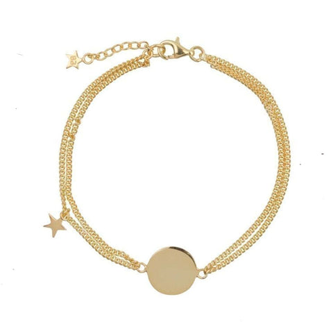Double chain Armband | Dochter Ster Goud - Papita.nl