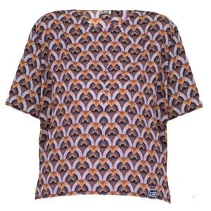 fairtrade top van viscose - Top Artistic Adventure - Kokoworld - Papita.nl