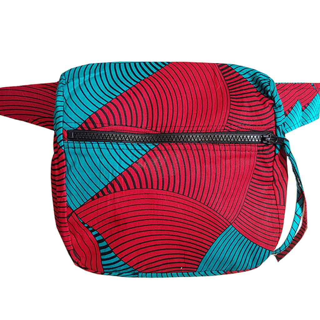 Fanny Pack | Red Waves - fairtrade heuptas - Papita.nl