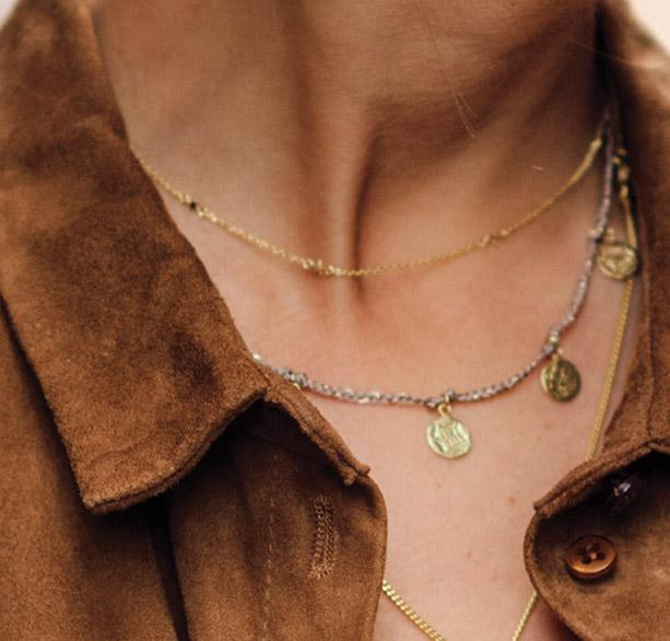 Ketting | Old Coins goud - Papita.nl