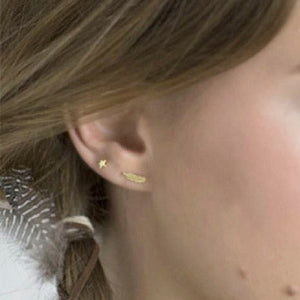 Oorbellen | Little Feather Stud Goud - Papita.nl