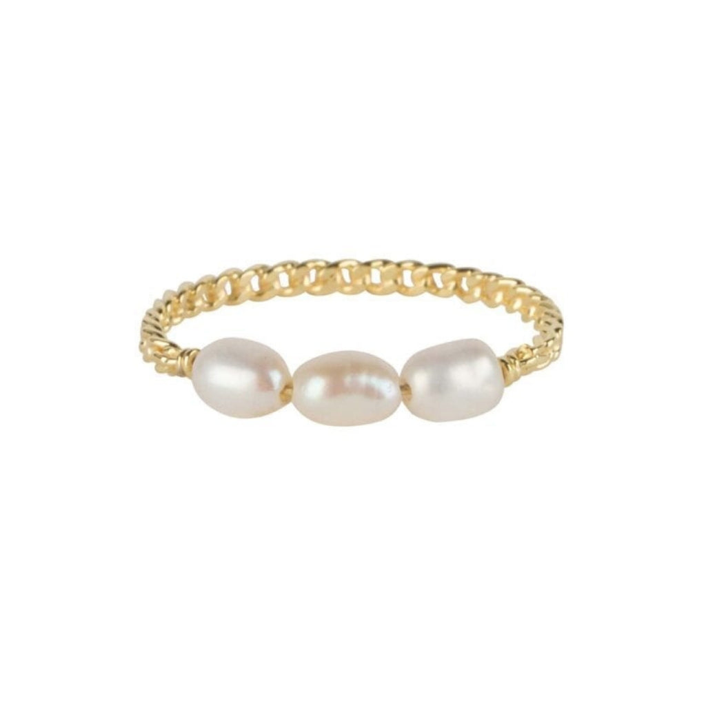 Ring | Three Pearls Goud - Papita.nl