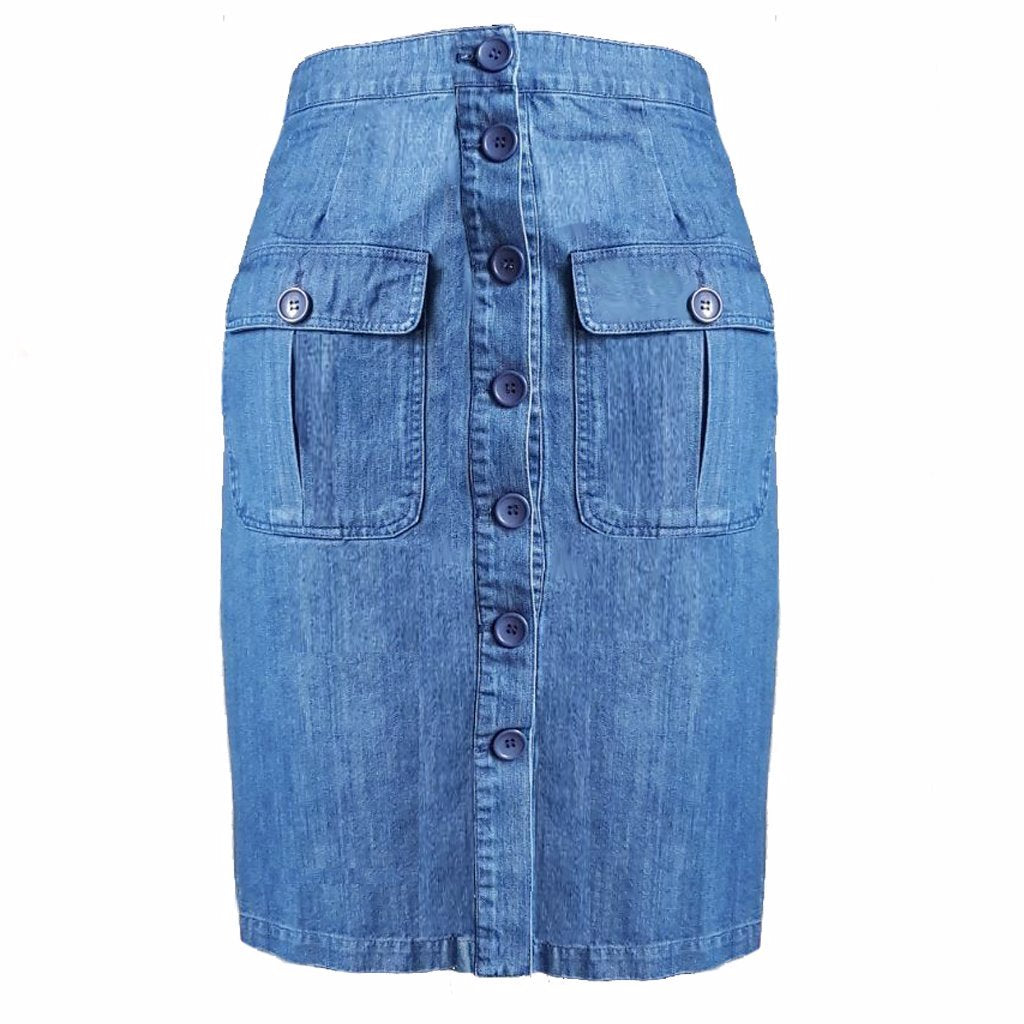 Rok | Blue Denim - Papita.nl