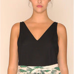 vegan en fairtrade zwarte top - Top Emily Black - Papita.nl