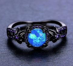 Vintage Blue Fire Opal Ring