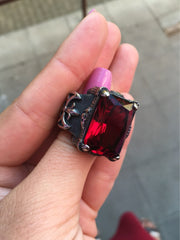 Rich Red Ruby Ring