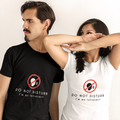 """Do Not Disturb"" Short-Sleeve Unisex T-Shirt (White)"